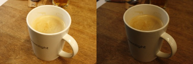Overexposed Coffee Cup