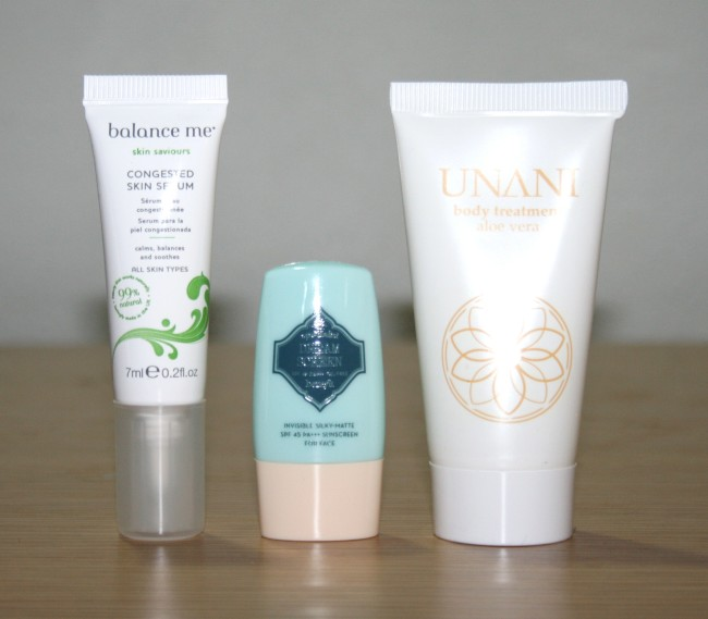 Birchbox July 2015 Balance Me Benefit Unani