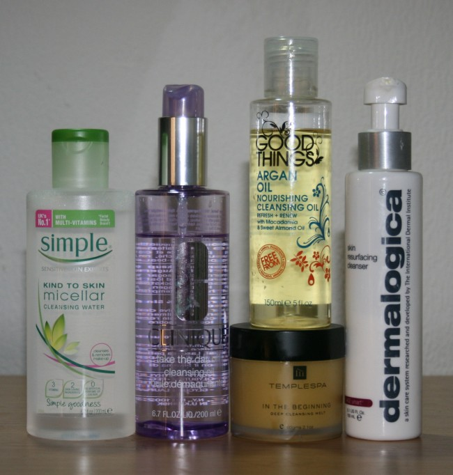 Current Skincare Routine July 2015 Cleansers Clinique Simple Good Things Temple Spa Dermalogica