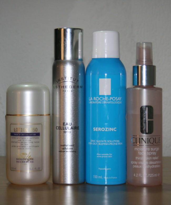 Current Skincare Routine July 2015 Toners Biologique Recherche Institut Esthederm Serozinc Clinique
