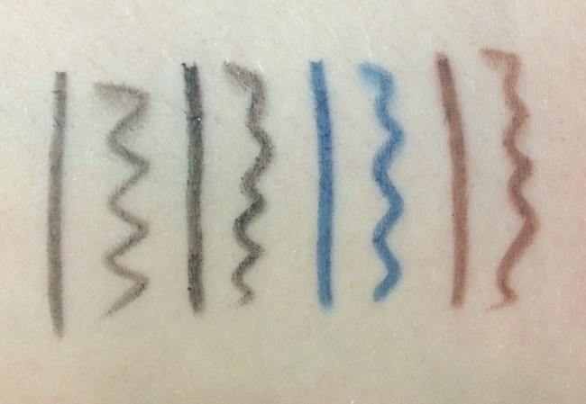 Makeup Revolution Amazing Eyliners Swatches