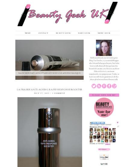 New Blog Design Beauty Geek
