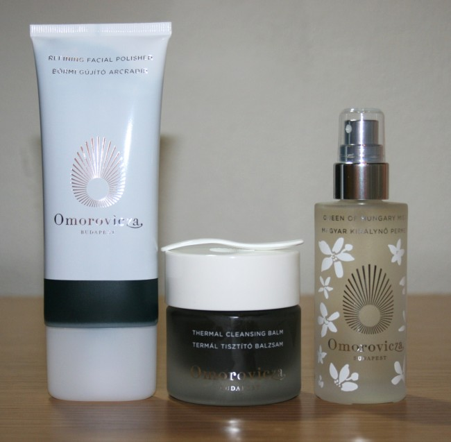 Omorovicza Summer Edit Thermal Cleansing Balm, Queen of Hungary Facial Mist and Refining Skin Polisher