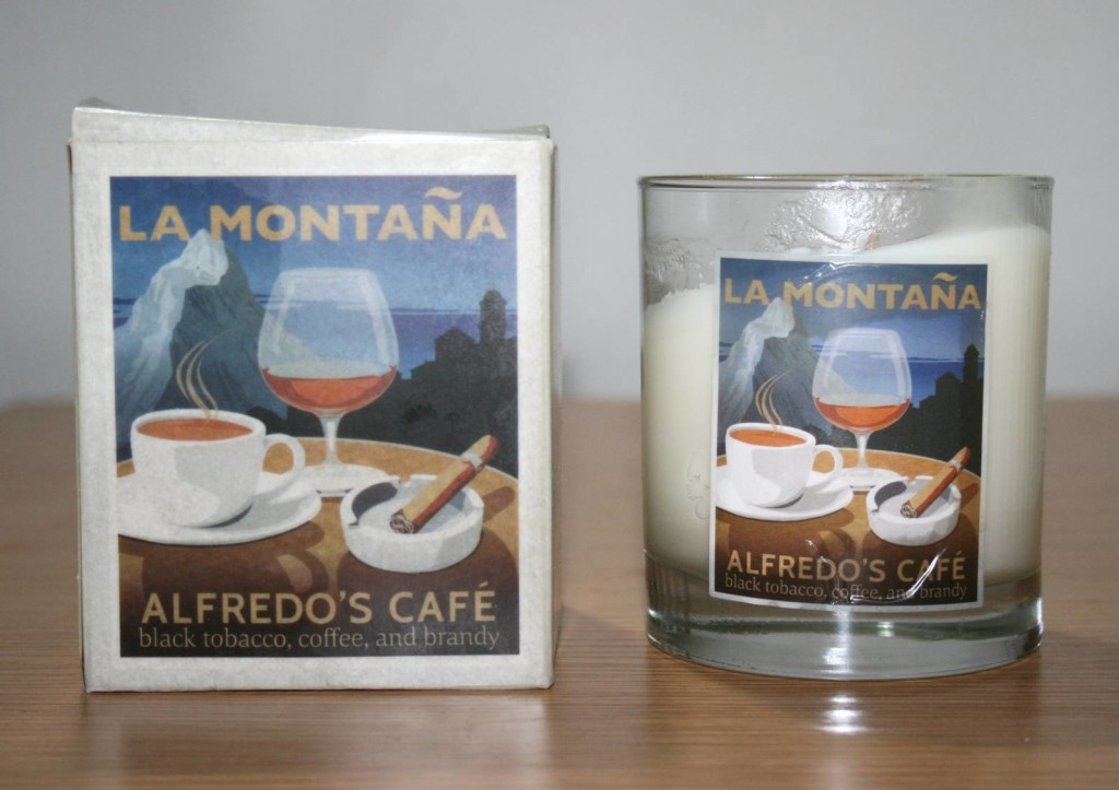 Happiness in a Candle: La Montana Alfredo's Cafe Candle