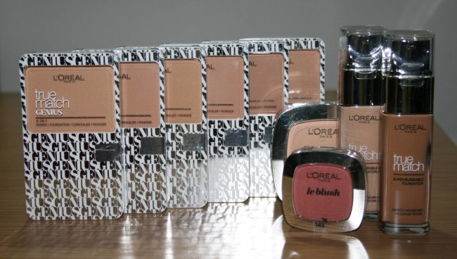 L'Oreal True Match Genius Foundation and Products
