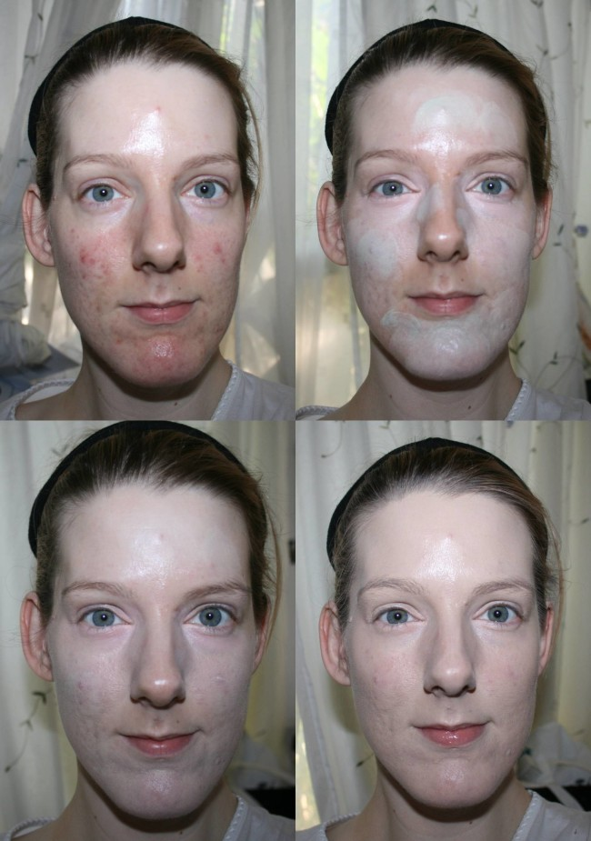 Makeup Revolution Ultra Base Corrector Palette Before and After