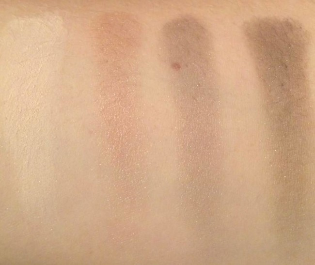 Avon True Colour Eyeshadow Quad in Stone Taupes Swatches