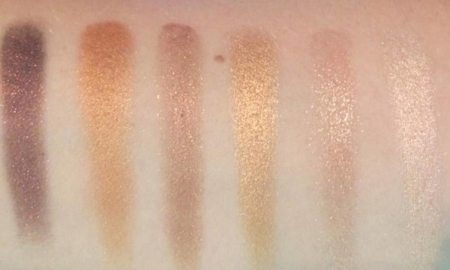Sleek Gold Standard i-Lust Palette Swatches