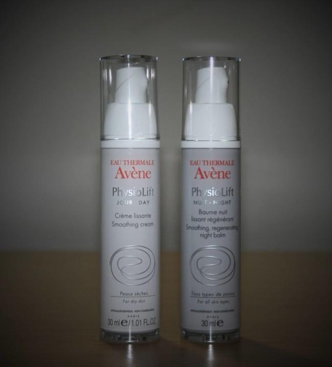 Avene Physiolift Day Smoothing Cream and Night Smoothing, Regenerating Balm