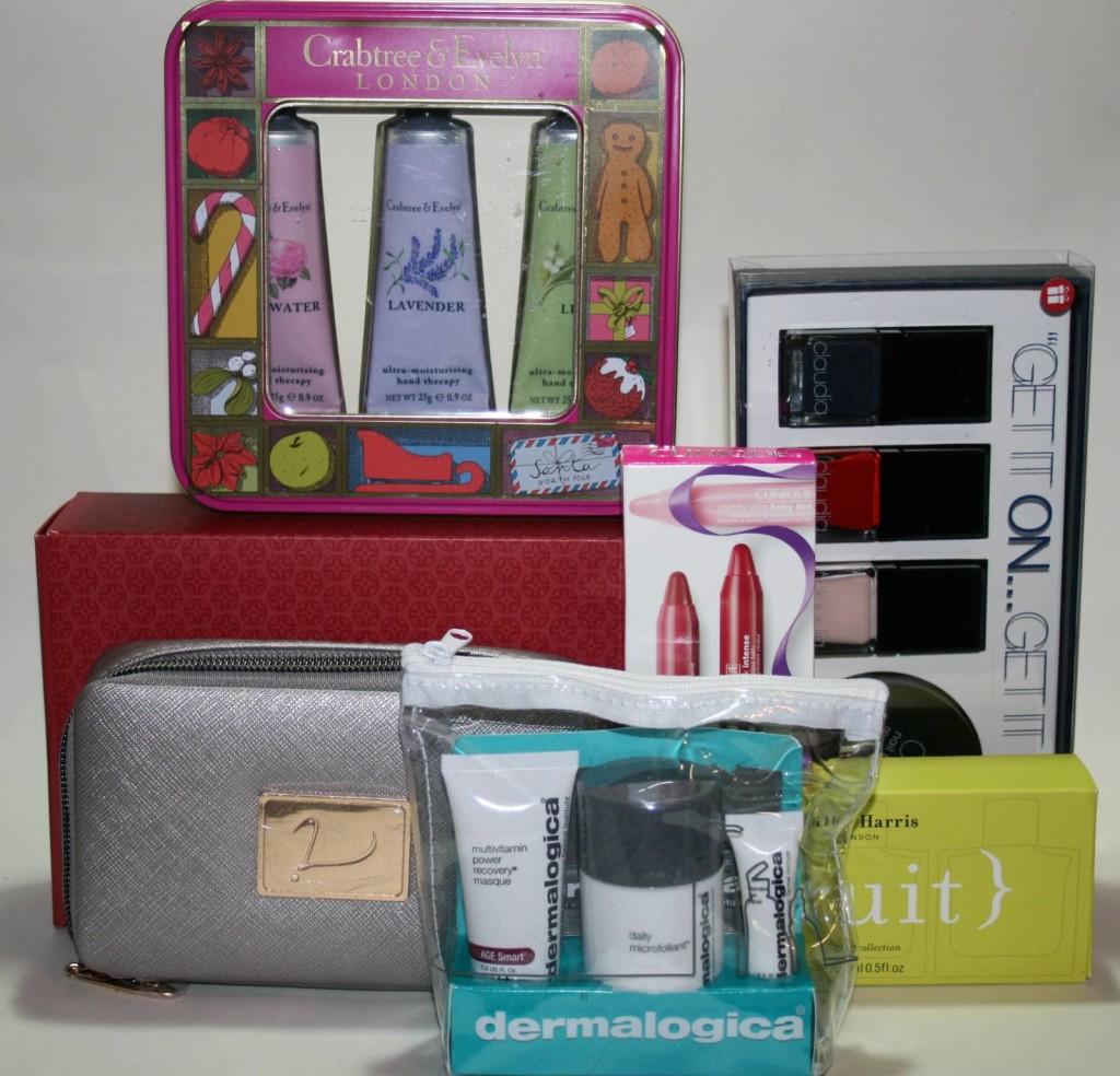 Nine Mini Christmas Gift Sets