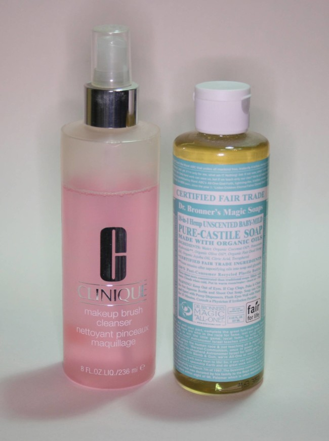Makeup Brush Cleaners - Clinique and Dr Bronner