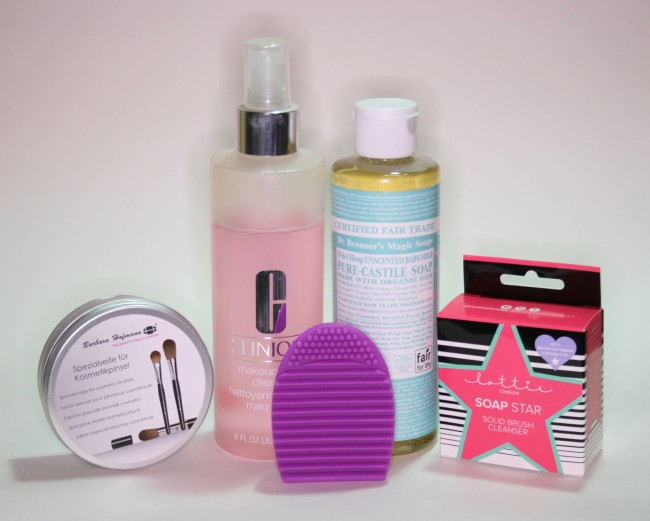 Makeup Brush Cleansers - Clinique, Dr Bronner, Makeup Revolution, Lotte London, Barbara Hofmann