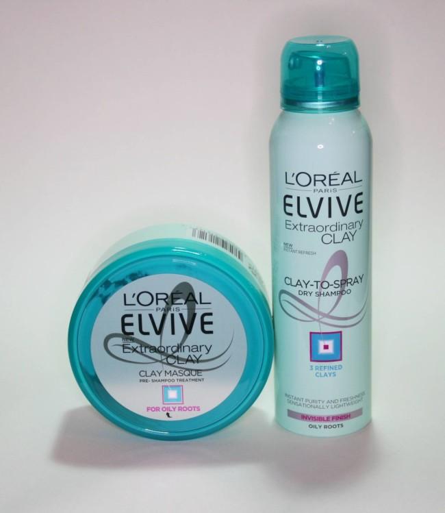 L'Oreal Paris Elvive Extraordinary Clay Pre-Shampoo Masque and Dry Shampoo Review