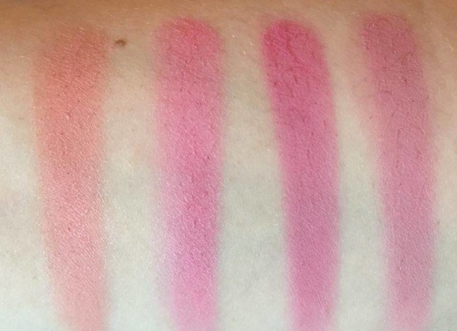Color Studio Professional Pro Blush Palette Volume 1 Swatches Bottom Row