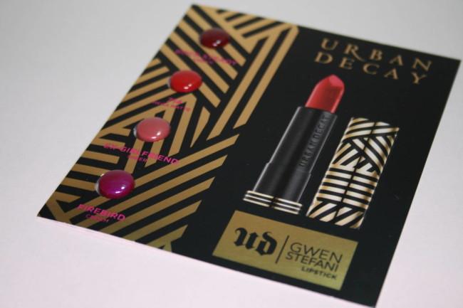 Urban Decay Gwen Stefani Eyeshadow Palette Lipstick Sample