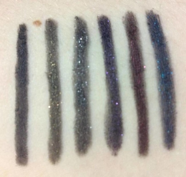 GlamourFlare Touch in Sol Glitter Liners Swatches