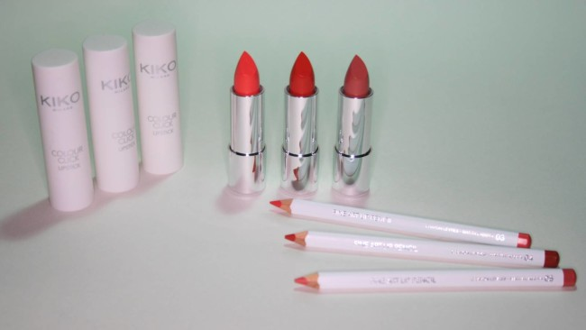 Lip products from the Kiko The Artist Collection