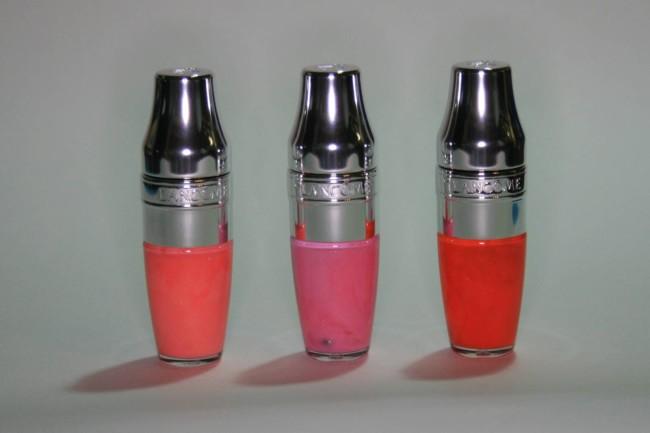 Lancome Juicy Shakers Freedom of Peach, Boom-Meringue and Apri-Cute