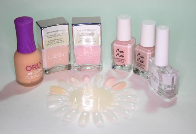 Nail Tints from Orly, Nails Inc, Barry M and Ciate Swatches