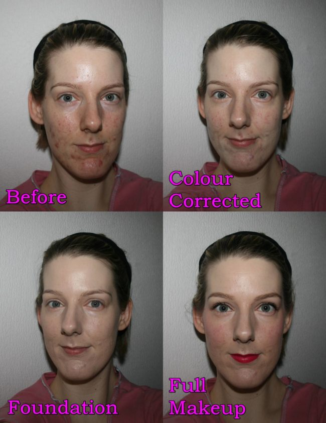 YSL Touche Éclat Le Teint Foundation Before and After