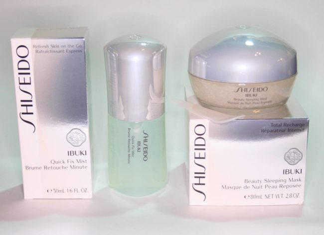 Shiseido Ibuki Beauty Sleeping Mask and Quick Fix Mist Review