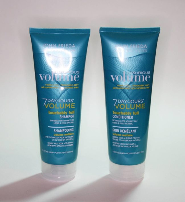 John Frieda 7 Day Volume Touchably Soft Shampoo and Conditioner Review