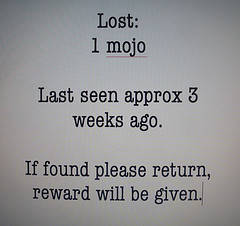 Lost Blogging Mojo