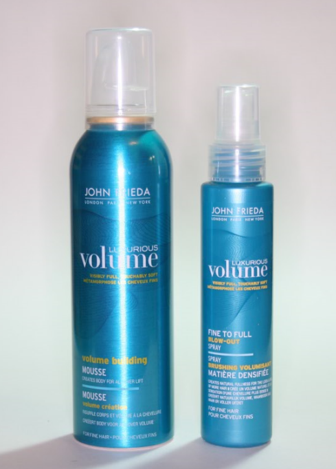 John Frieda Luxurious Volume Styling Products Review