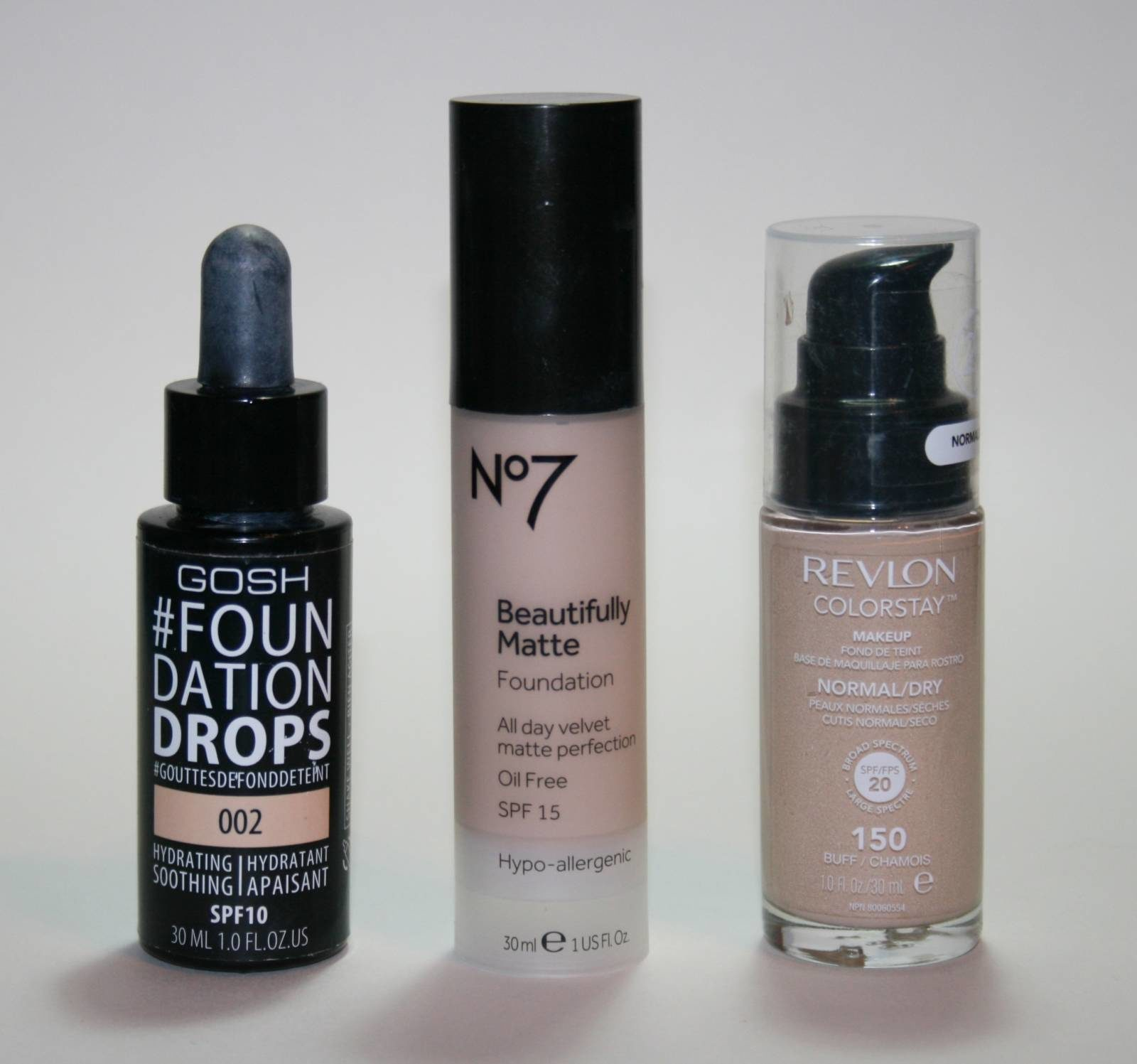 Three Awesome High Street High Coverage Foundations