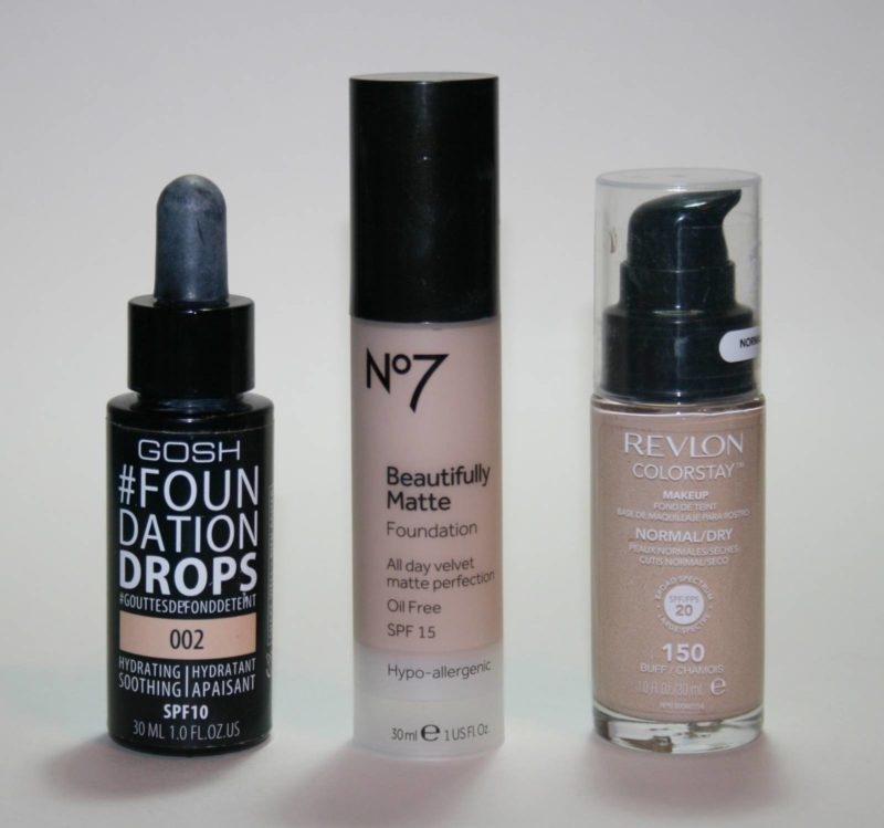 Three Awesome High Street Full Coverage Foundations