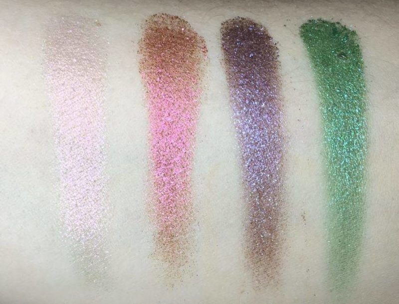 Urban Decay Moondust Eyeshadow Palette - Top Row Swatches