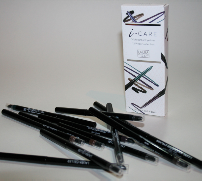 Laura Geller 12 Piece I-Care Eyeliner Library Collection QVC