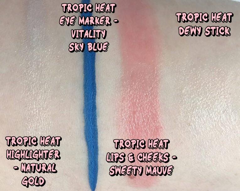 Kiko Tropic Heat Swatches