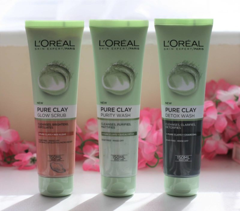 L'Oreal Pure Clay Foam Wash in Purity, Glow and Detox