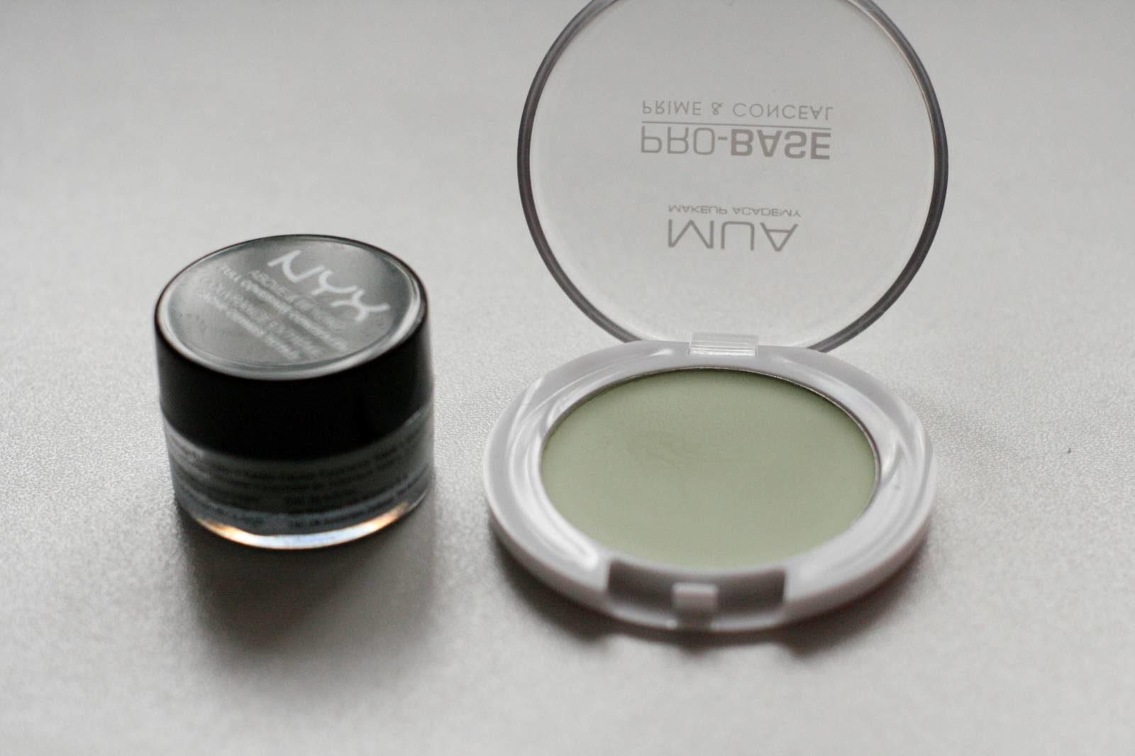 Green Colour Correctors MUA and NYX Concealer Jars