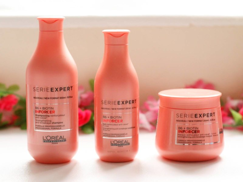 L'Oreal Professional Serie Expert Inforcer Vitamin B6+ Biotin Shampoo, Conditioner and Masque