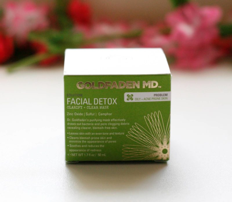 Mask Monday: Goldfaden Facial Detox Clarify + Clear Mask