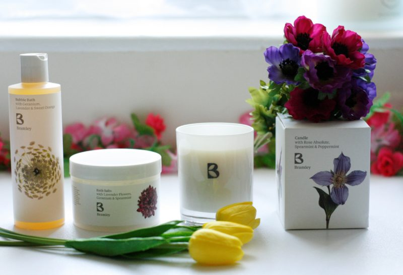 Bramley Bath Products: Bath Salts, Bubble Bath and Candle