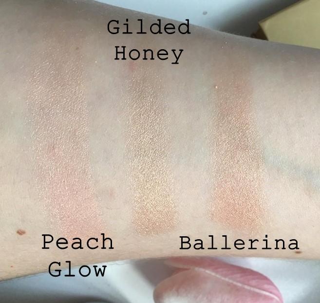 Laura Geller Baked Gelato Swirl Illuminator Blusher Palette Swatches