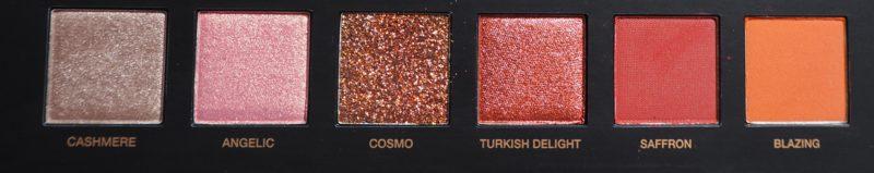 Huda Beauty Desert Dusk Eyeshadow Palette Third Row