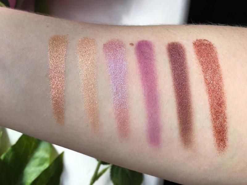 Huda Beauty Desert Dusk Eyeshadow Palette Second Row Swatches