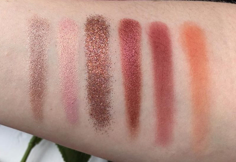 Huda Beauty Desert Dusk Eyeshadow Palette Third Row Swatches
