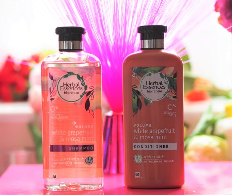 Herbal Essences Bio:Renew White Grapefruit and Mosa Mint Shampoo and Conditioner