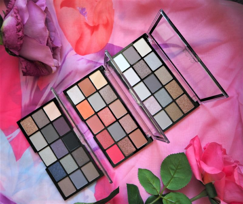 MUA Pro Eyeshadow Palettes in Heavenly Neutral, Fire Vixen and Twilight Delight