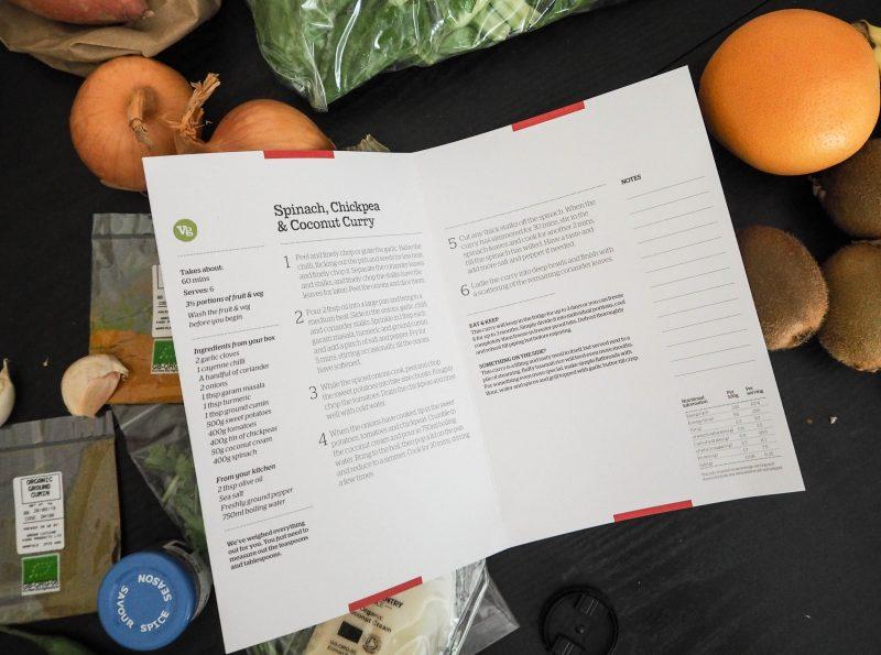 Abel & Cole Veggie Recipe Box Recipe Card