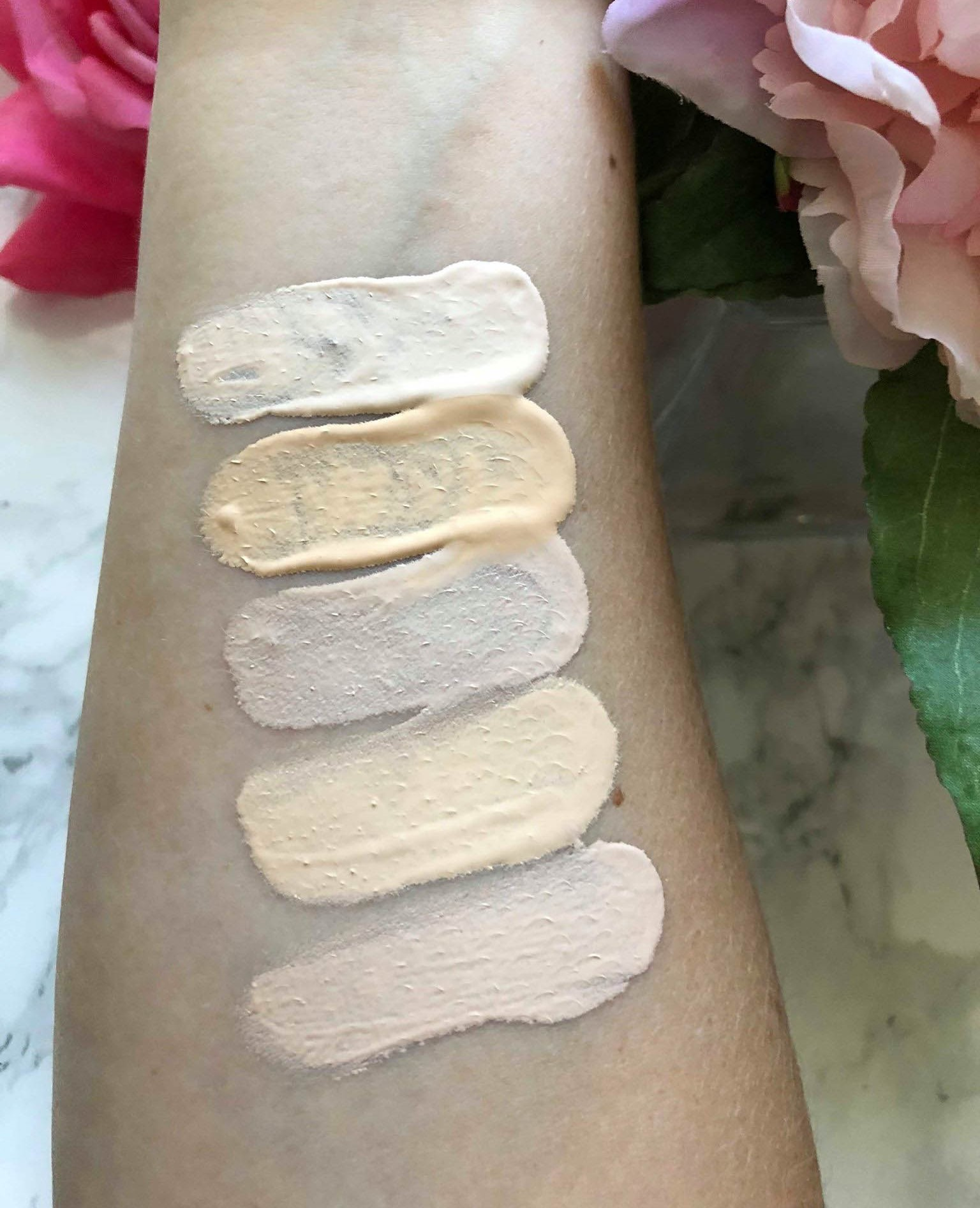 Too Faced Born This way Pale Foundation Swatches