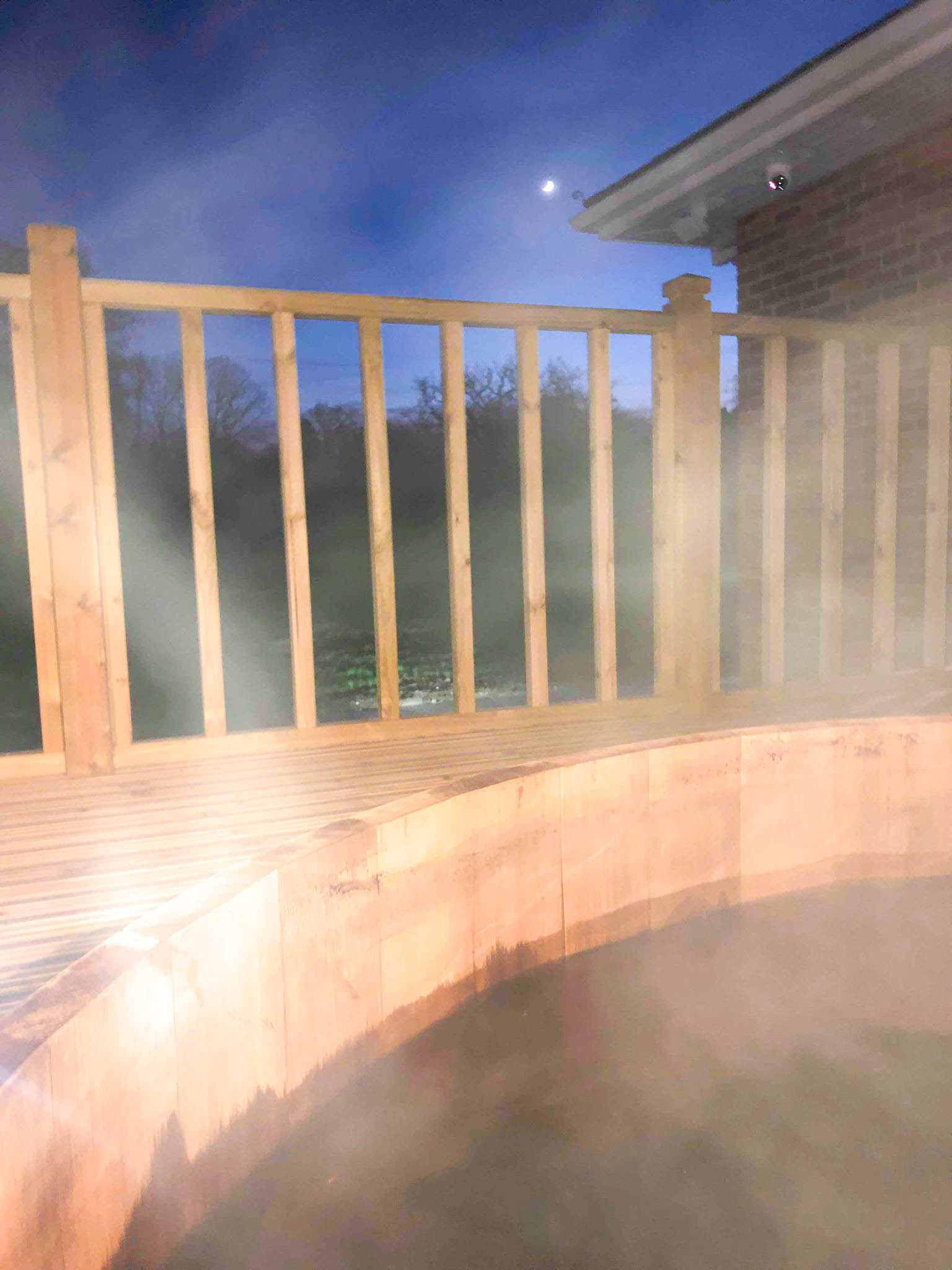 Night Time Hot Tub, Park Spa, Warbrook House