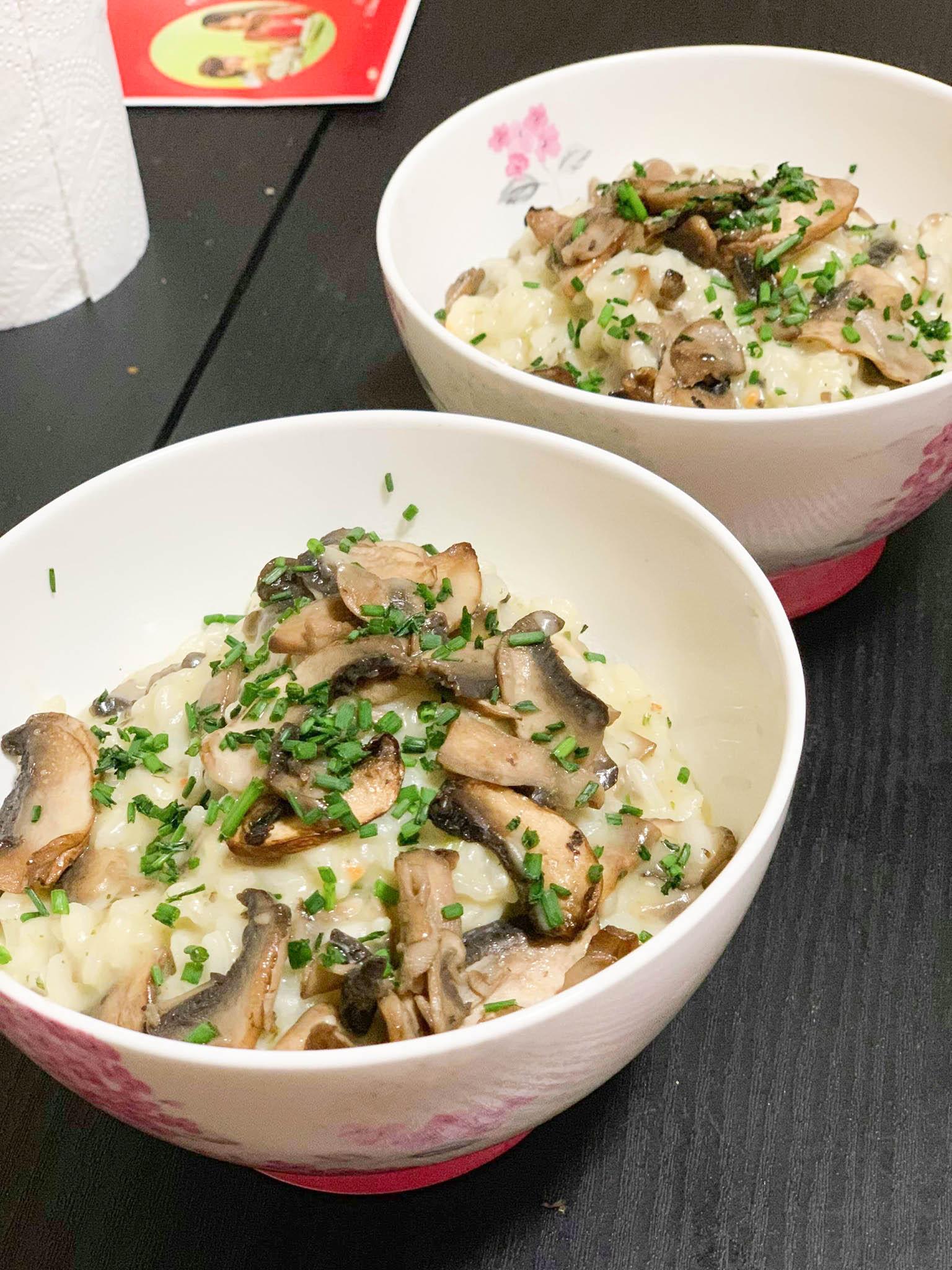 Creamy Two-Mushroom Risotto