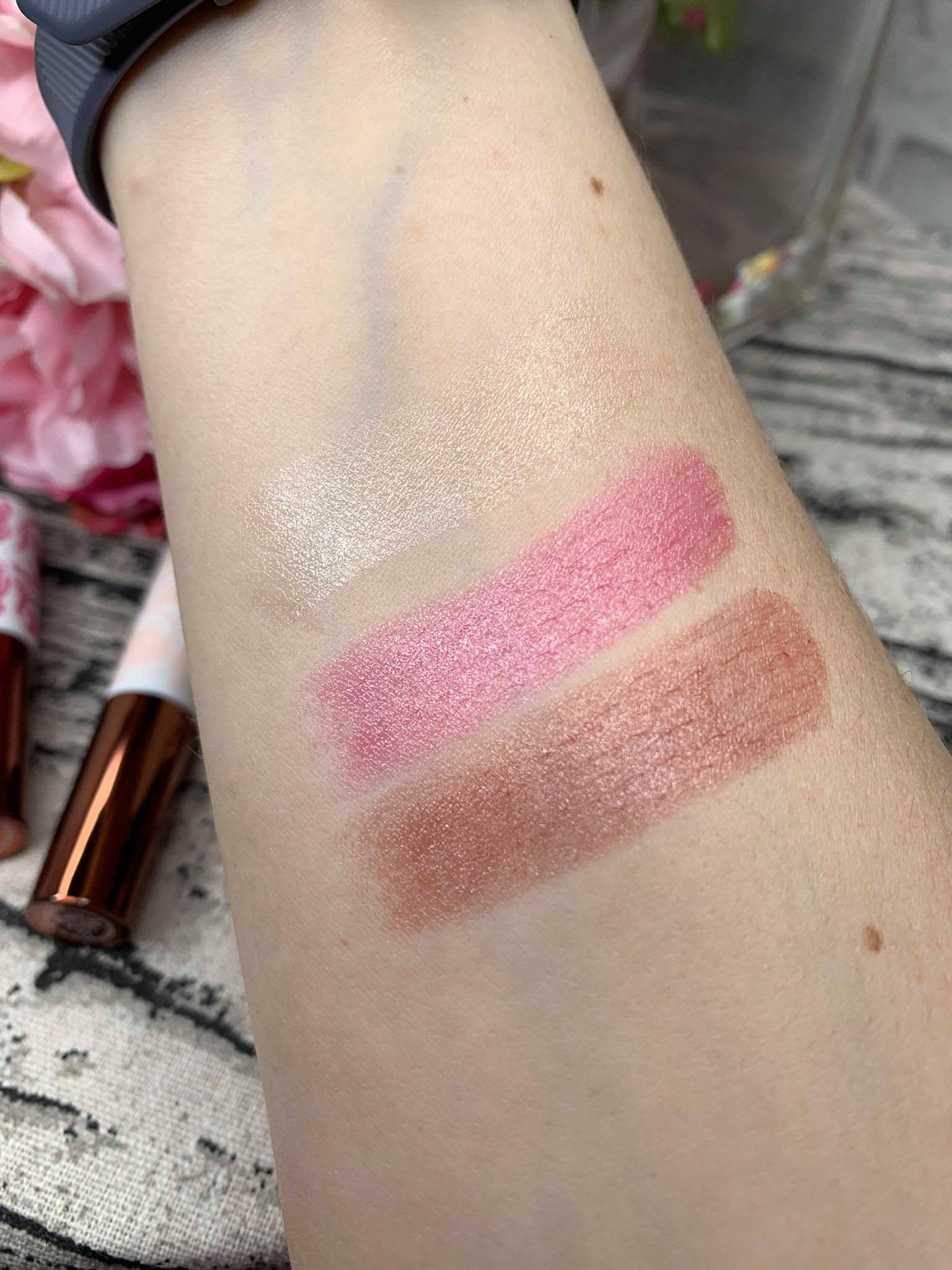 Origins Blooming Sheer Lip Balms Swatches