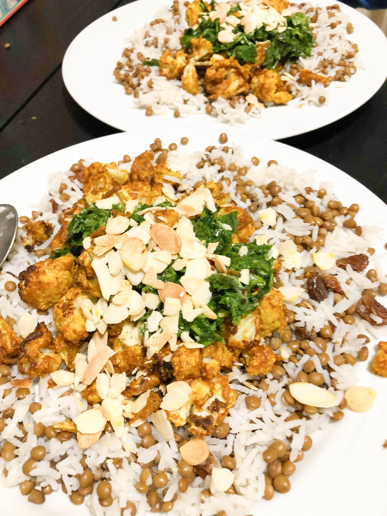 Tandoori Cauli, Rice & Coriander Chutney